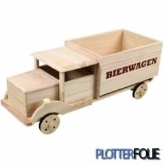 Houten bierwagen voor 6 flesjes bier