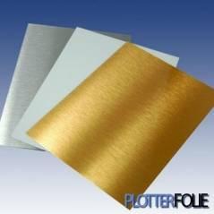 Aluminium sublimatie plaat goud A4