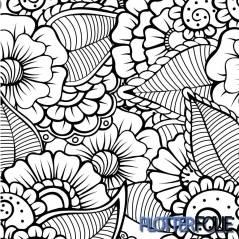 ColorPrint Flex -Zwart/Wit Bloemen