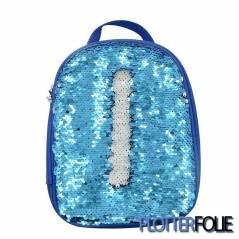 Kinder lunch tas magic paillet blauw