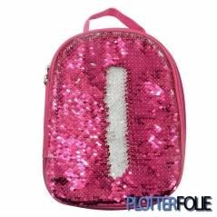 Kinder lunch tas magic paillet roze