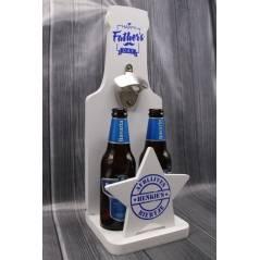 MDF houder voor twee bierflesjes