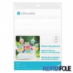 Silhouette Printbare Raamstickers - Wit