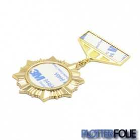 Sublimatie Medaille Badge Goud