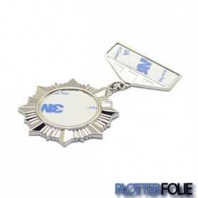 Sublimatie Medaille Badge Zilver