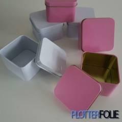 Blikje 6,5x6,5cm roze